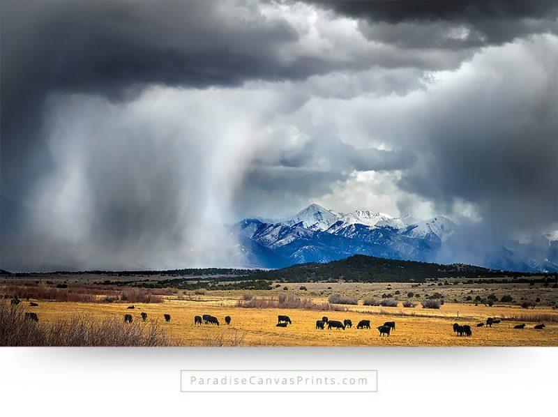 colorado wall art mountains landscape clouds