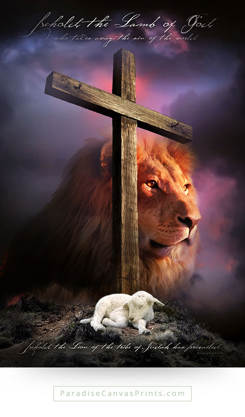 Christian wall art - Behold the lamb of God