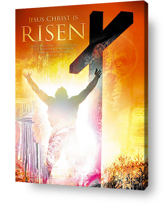 Christian wall art decor canvas - Jesus Christ is Risen