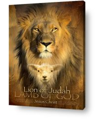 Christian wall art decor - The Lion of Judah and Lamb of God