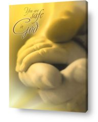 christian wall decor art - safe in god