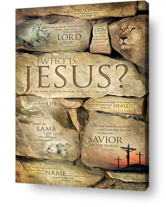 Christian wall art decor - Who is Jesus, Names of Jesus