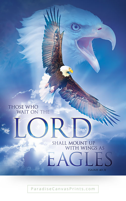 Christian wall art - Those who wait on the Lord, rise with wings as eagles