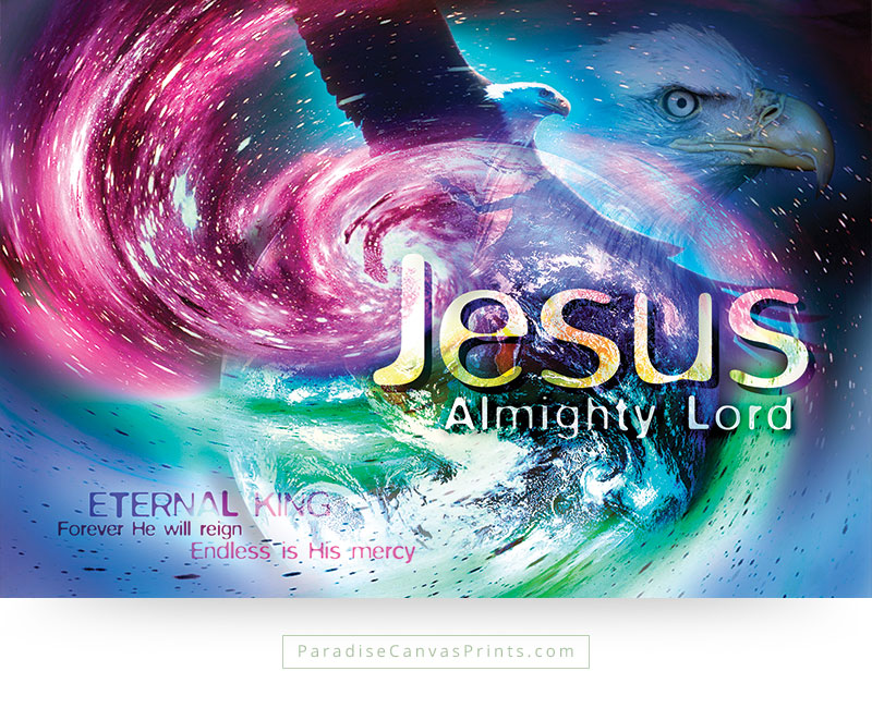 Christian wall art - Jesus Almighty Lord