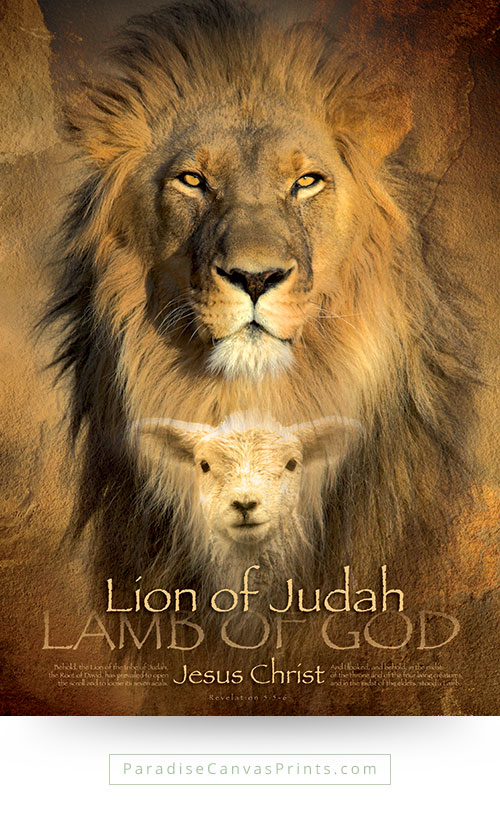 Christian wall art - Lion of Judah, Lamb of God