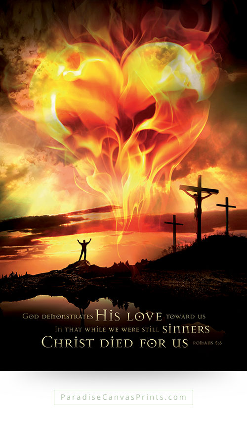 Christian wall art - God's love for sinners