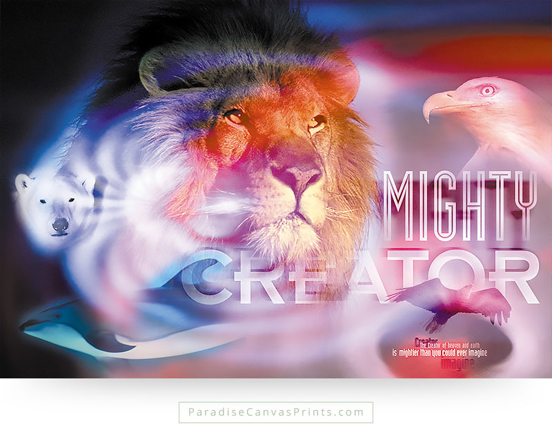 Christian wall art - God is the Mighty Creator