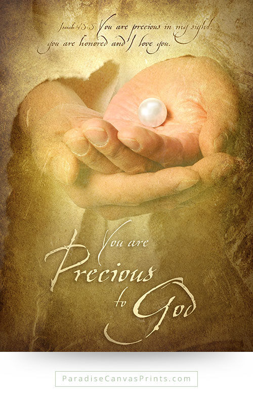 Christian wall art - You are very precious to god