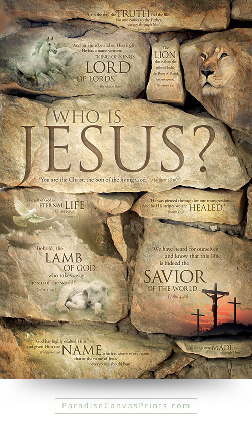 Christian wall art - Who is Jesus, names of Jesus
