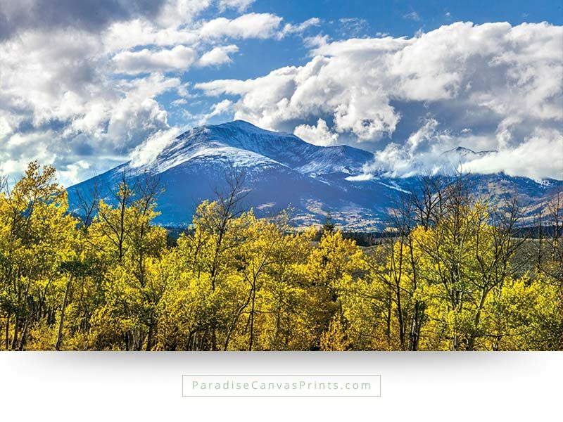 Colorado wall art and prints - Mountain with aspen colors in the fall