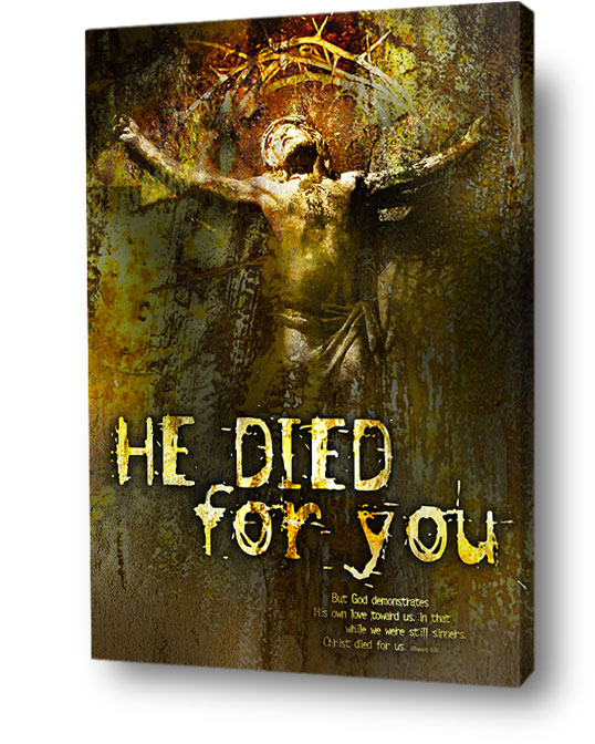christian wall art decor canvas - Christ died for you