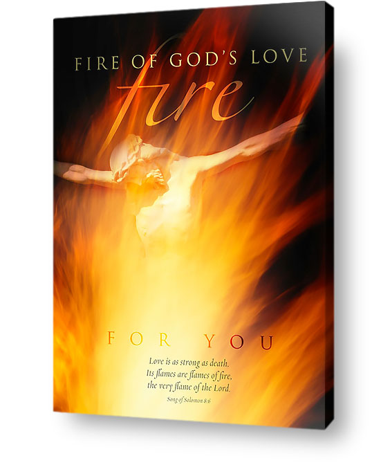 christian wall art decor canvas - Fire of Gods love