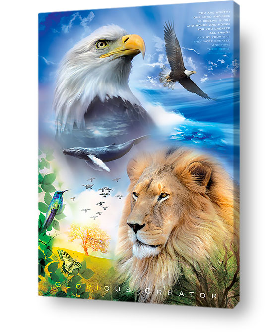 christian wall art decor canvas - Glorious creator