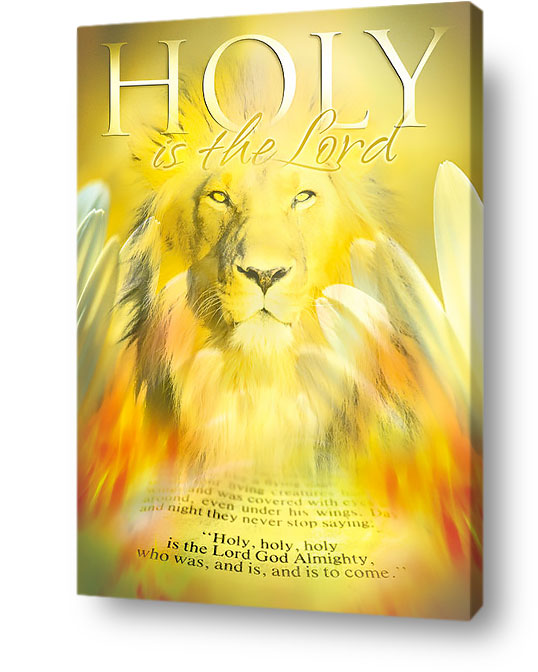 christian wall art decor canvas - Holy is the Lord God almighty