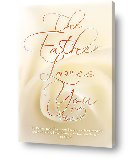 christian wall art decor canvas - Father loves you