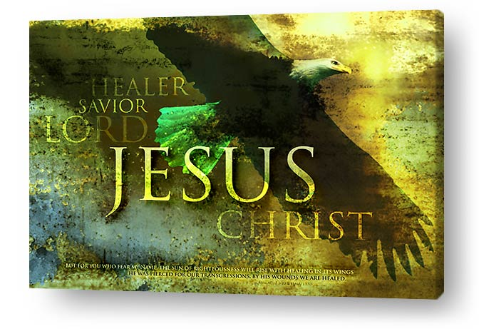 christian wall art decor canvas prints - Healer, savior, lord. JESUS CHRIST