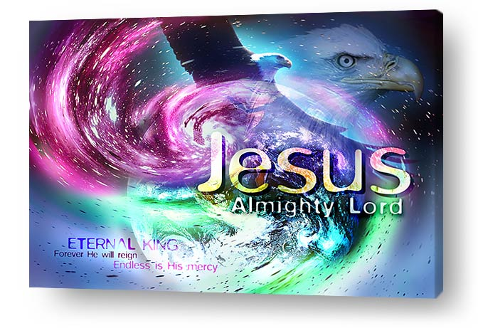 Christian wall art and decor on canvas prints - Jesus Almighty Lord