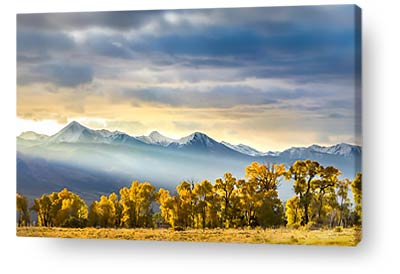 colorado wall art sunrise mountains