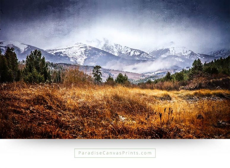 colorado wall art rough wilderness mountains