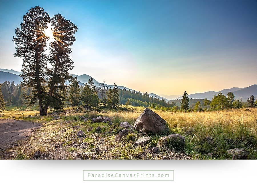 Landscape View In The High Mountains Of Colorado - Wall Art, Canvas ...