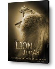 christian wall art decor canvas lion judah roaring