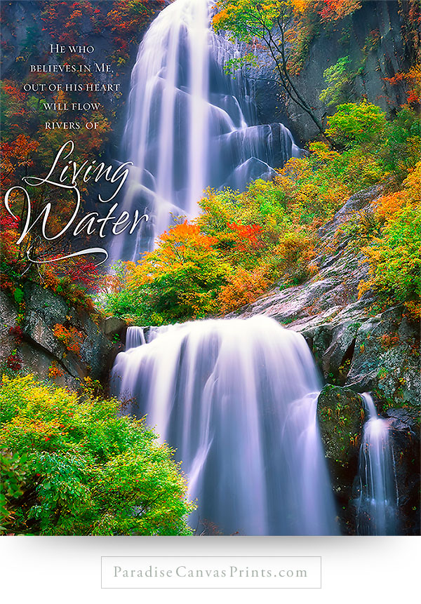 christian wall art decor rivers of living water scripture