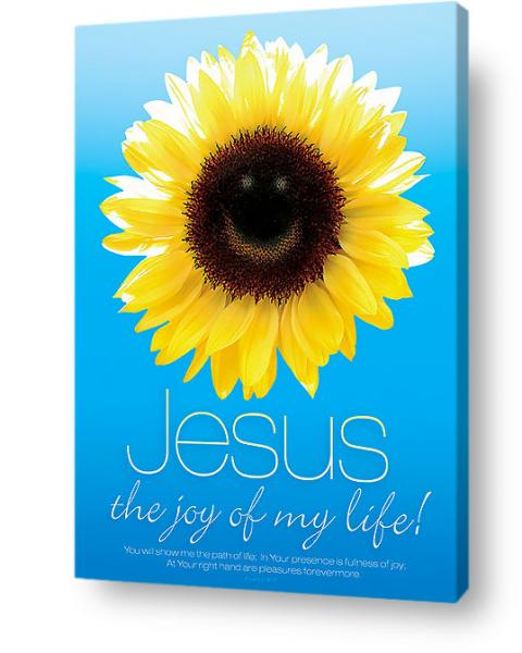 Christian wall art decor canvas - Jesus is the joy of my life