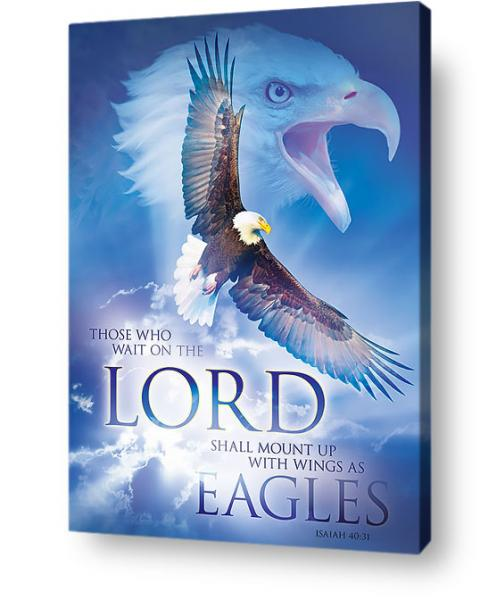 Christian wall art - This that wait on the Lord, rise with wings as eagles