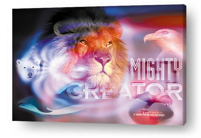 Christian wall art and decor on canvas prints - Mighty Creator